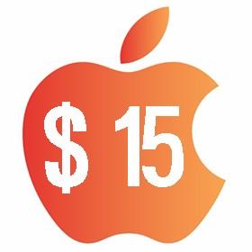 آیتونز گیفت کارت 15 دلاری آمریکا
