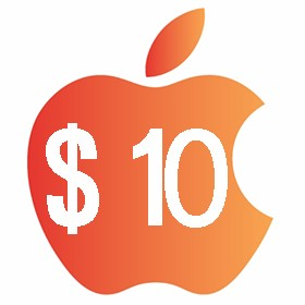 آیتونز گیفت کارت 10 دلاری آمریکا