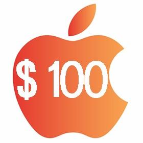 آیتونز گیفت کارت 100 دلاری آمریکا