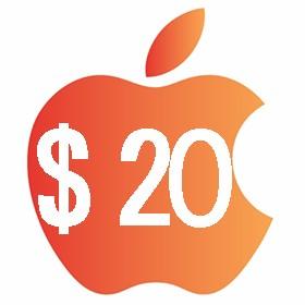 آیتونز گیفت کارت 20 دلاری آمریکا