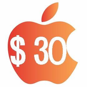 آیتونز گیفت کارت 30 دلاری آمریکا