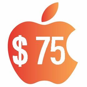 آیتونز گیفت کارت 75 دلاری آمریکا
