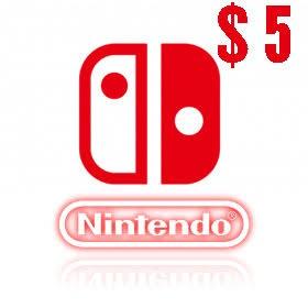 گیفت کارت 5 دلاری نینتندو امریکا Nintendo E Shop