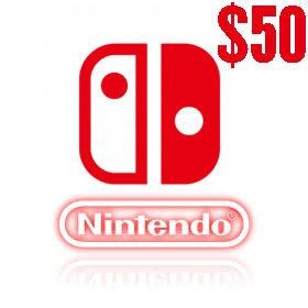 گیفت کارت 50 دلاری نینتندو امریکا Nintendo E Shop