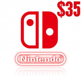 گیفت کارت 35 دلاری نینتندو امریکا Nintendo E Shop